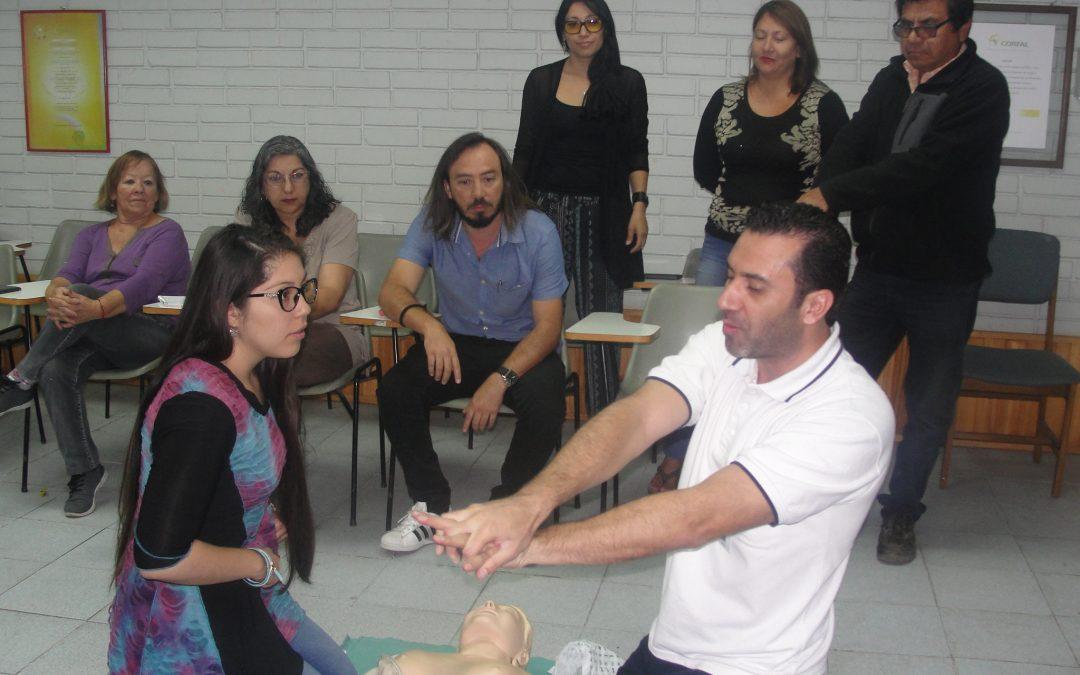 Experto de Vigilancia Médica ACHS realizó capacitación en Primeros Auxilios a trabajadores CORFAL