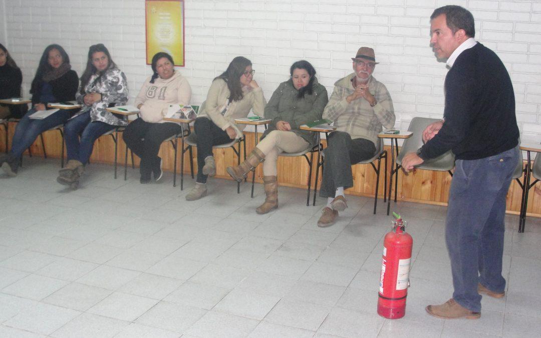 Trabajadores CORFAL se capacitaron en Curso de Prevención contra Incendios