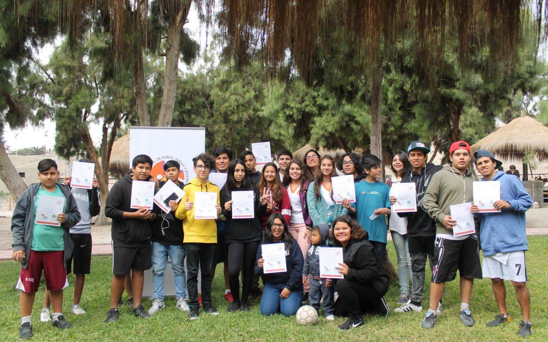 Grupo CINNJA realiza exitosa Escuela de Liderazgo para adolescentes en CORFAL