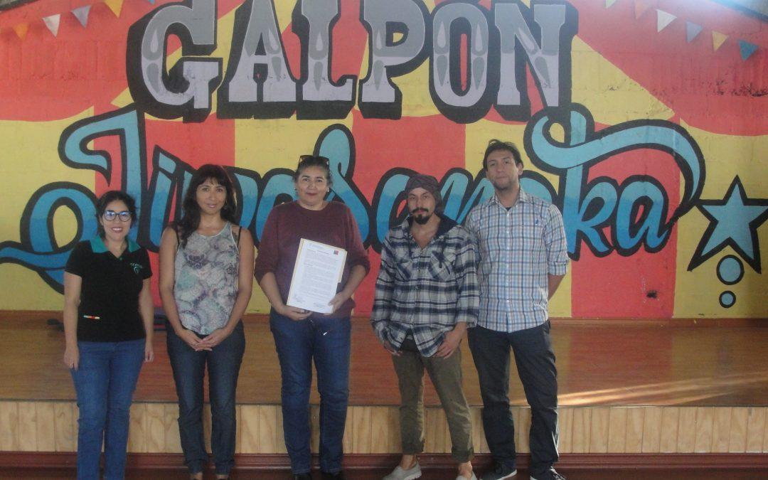 Programa PLE CORFAL firma convenio con Galpón Jiwasanaka Circo