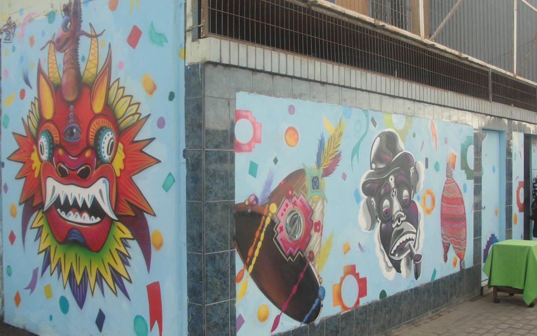 Programa PAI Nacho Vergara cierra Taller de Muralismo con ceremonia de inauguración de nueva fachada